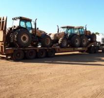 Transporte de máquinas e equipamentos