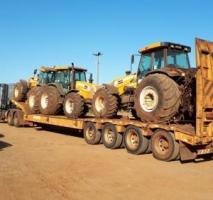 Transporte de máquinas agrícolas